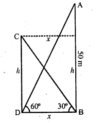 RD Sharma Class 10 Solutions Chapter 12 Heights and Distances Ex 12.1 - 30