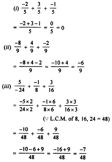 Selina Concise Mathematics class 7 ICSE Solutions - Rational Numbers-c3..