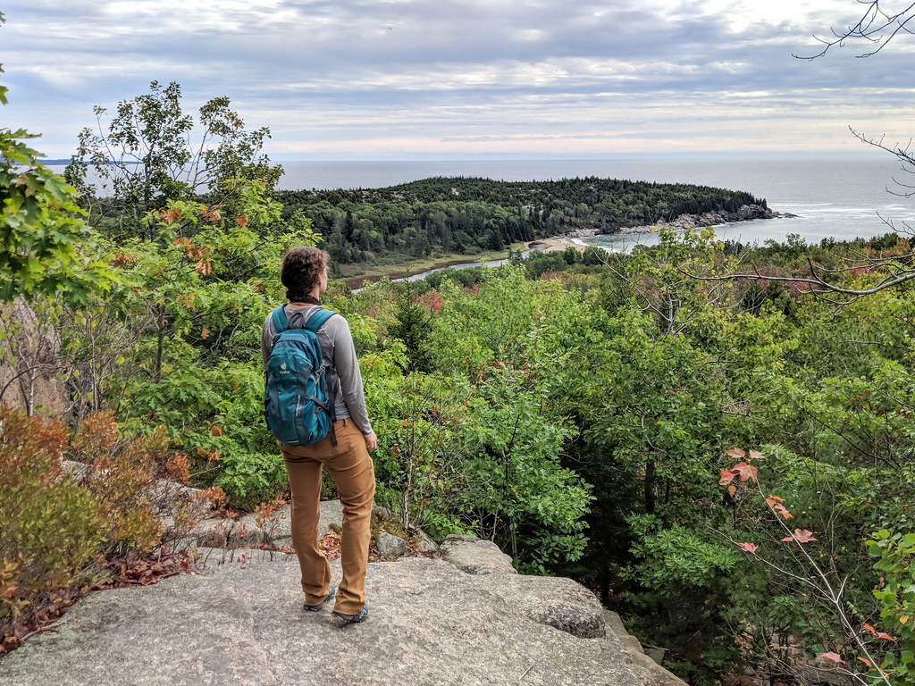 Hiking Beehive, Acadia National Park