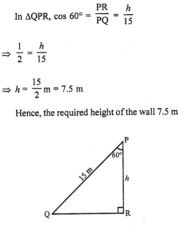 RD Sharma Class 10 Solutions Chapter 12 Heights and Distances Ex 12.1 - 6
