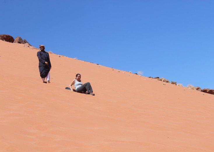 When your sandboard moves let you down, Wadi Rum, Jordan