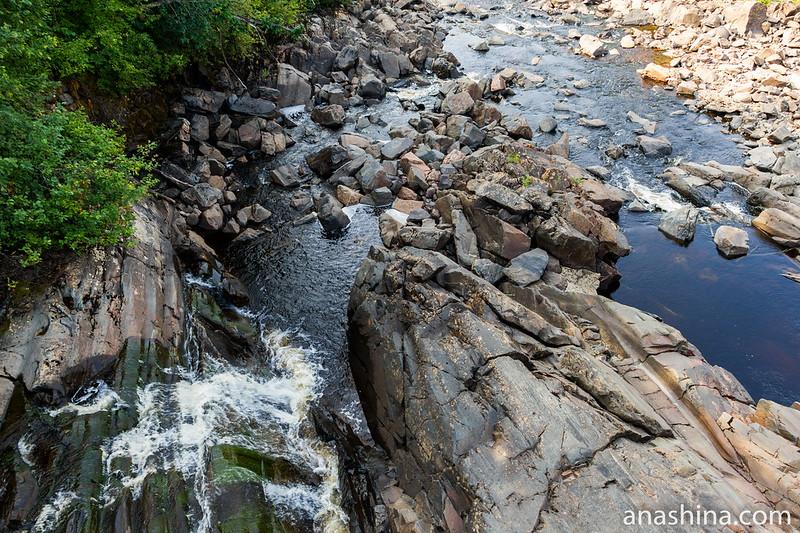 Порожистая река Янисйоки, Ляскеля, Карелия