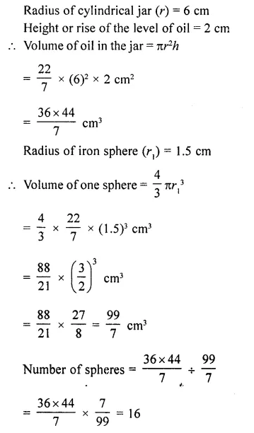 RD Sharma Class 10 Solutions Chapter 14 Surface Areas and Volumes Ex 14.1 42