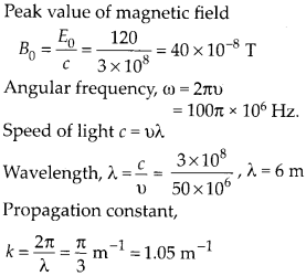 NCERT Solutions for Class 12 Physics Chapter 8 Electromagnetic Waves 14