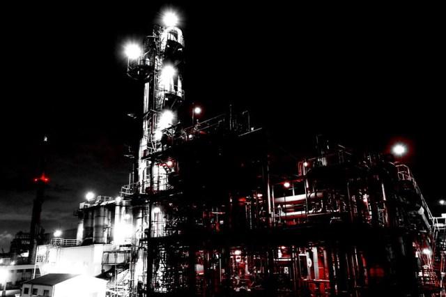 Kawasaki factory nightscape