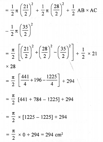 RD Sharma Class 10 Solutions Chapter 13 Areas Related to Circles Ex 13.4 - 44aa