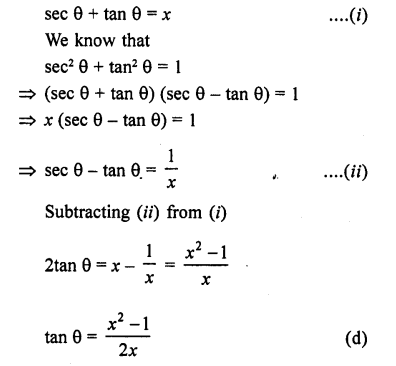 RD Sharma Class 10 Solutions Chapter 11 Trigonometric Identities MCQS - 2a