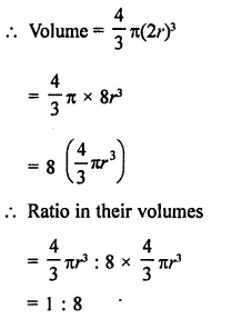 RD Sharma Class 9 Solutions Chapter 21 Surface Areas and Volume of a Sphere Ex 21.2 9