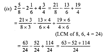 Selina Concise Maths class 7 ICSE Solutions - Fractions (Including Problems)-C1....