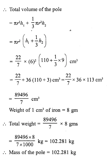 RD Sharma Class 10 Solutions Chapter 14 Surface Areas and Volumes Ex 14.2 21a