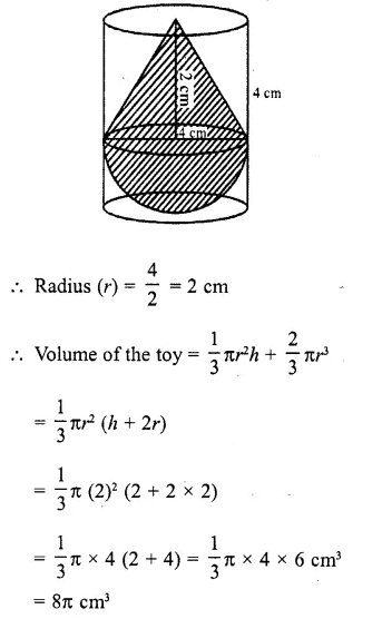 RD Sharma Class 10 Solutions Chapter 14 Surface Areas and Volumes Ex 14.2 22