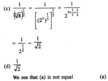 RD Sharma Class 9 Solutions Chapter 2 Exponents of Real Numbers MCQS - 12b