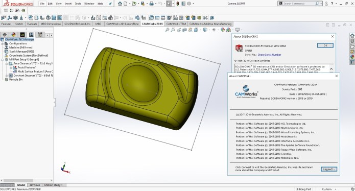 Machining with CAMWorks 2019 SP0.0 Build 2018.10.24 Multilang for SW 2018-2019 full