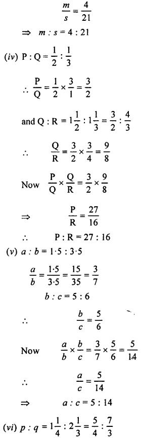 Selina Concise Mathematics class 7 ICSE Solutions - Ratio and Proportion (Including Sharing in a Ratio) -b5......
