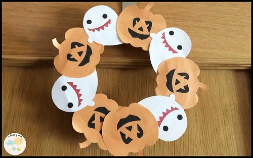Decoraciones fáciles para Halloween. Corona puerta