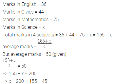 ML Aggarwal Class 10 Solutions for ICSE Maths Chapter 23 Measures of Central Tendency Chapter Test 1