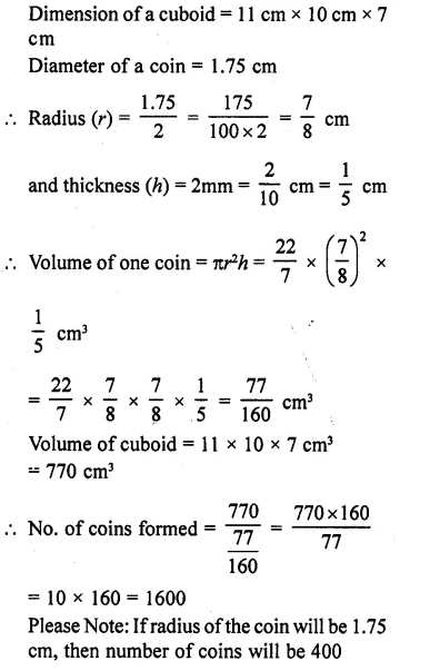 RD Sharma Class 10 Solutions Chapter 14 Surface Areas and Volumes Ex 14.1 19