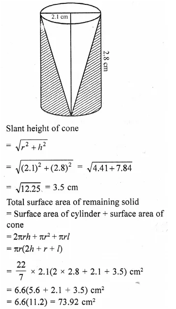 RD Sharma Class 10 Solutions Chapter 14 Surface Areas and Volumes Ex 14.2 30