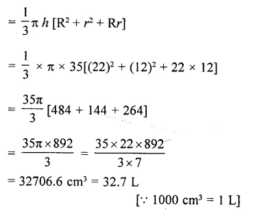 RD Sharma Class 10 Solutions Chapter 14 Surface Areas and Volumes MCQS 49