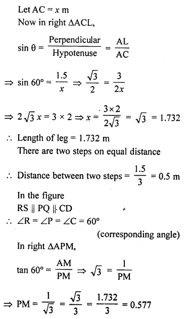 RD Sharma Class 10 Solutions Chapter 12 Heights and Distances Ex 12.1 - 73a