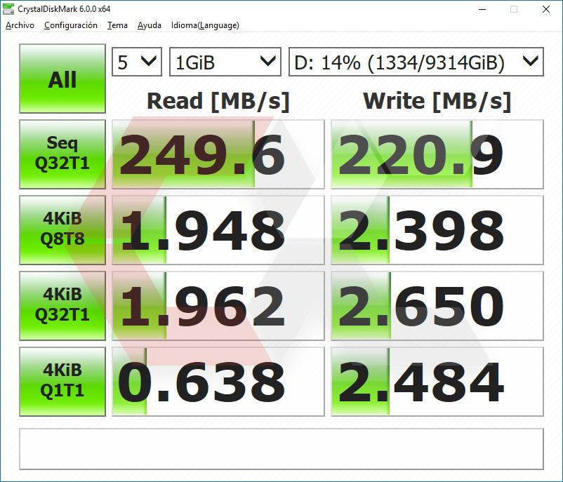 DiskMark HDD Seagate 10 TB OverCluster