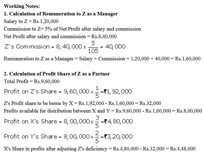 TS Grewal Accountancy Class 12 Solutions Chapter 1 Accounting for Partnership Firms - Fundamentals Q78.1