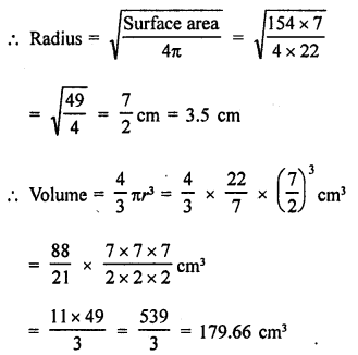 RD Sharma Class 9 Solution Chapter 21 Surface Areas and Volume of a Sphere