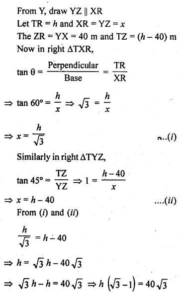 RD Sharma Class 10 Solutions Chapter 12 Heights and Distances Ex 12.1 - 49a