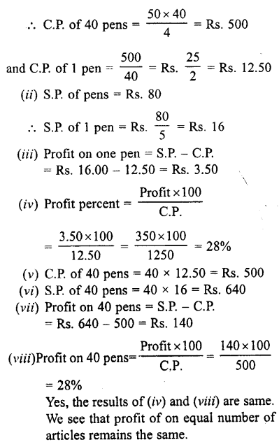 Selina Concise Mathematics class 7 ICSE Solutions - Profit, Loss and Discount-c11...