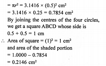 RD Sharma Class 10 Solutions Chapter 13 Areas Related to Circles Ex 13.4 - 33aa