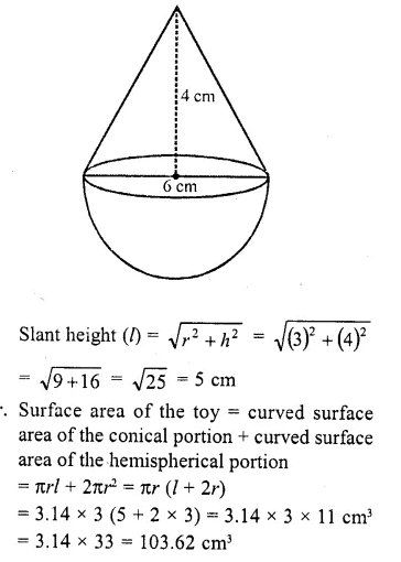 RD Sharma Class 10 Solutions Chapter 14 Surface Areas and Volumes  RV 54