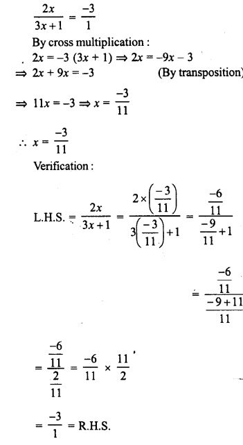 RD Sharma Class 8 Solutions Chapter 9 Linear Equations in One Variable Ex 9.3 - 8a