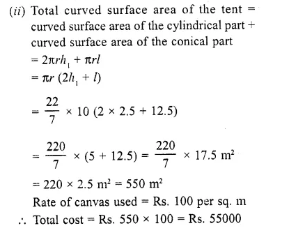 RD Sharma Class 10 Solutions Chapter 14 Surface Areas and Volumes Ex 14.2 11a
