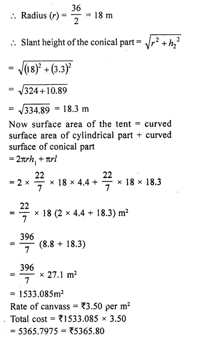 RD Sharma Class 10 Solutions Chapter 14 Surface Areas and Volumes Ex 14.1 57a