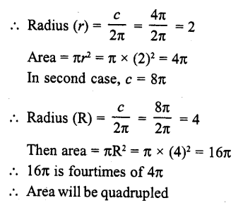 RD Sharma Class 10 Solutions Chapter 13 Areas Related to Circles MCQS -14