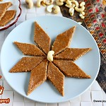 Kaju katli with karupatti