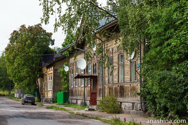 Дома по улице Советских космонавтов, Сортавала, Карелия