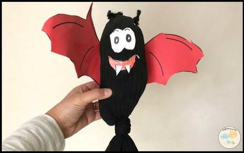 Decoraciones fáciles para Halloween. Murciélago