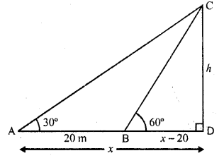 RD Sharma Class 10 Solutions Chapter 12 Heights and Distances Ex 12.1 - 16