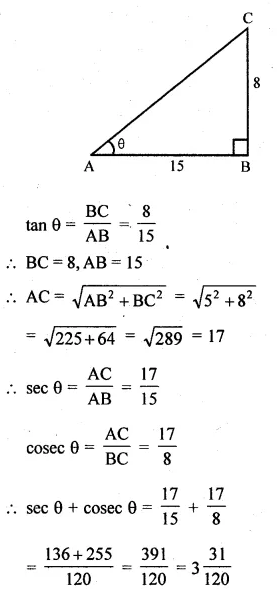 ML Aggarwal Class 10 Solutions for ICSE Maths Chapter 19 Trigonometric Identities Chapter Test 1a