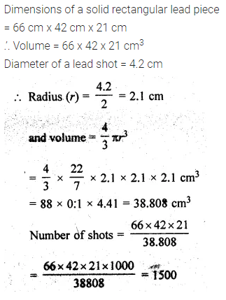 ML Aggarwal Class 10 Solutions for ICSE Maths Chapter 18 Mensuration Chapter Test 17