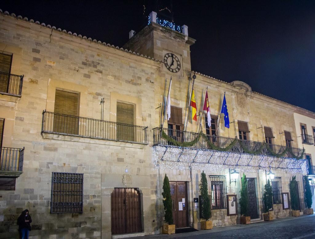 Ayuntamiento de noche Plaza Mayor Almagro Ciudad Real 01