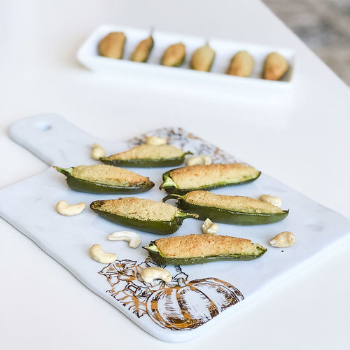 Keto Jalapeno Peppers Stuffed with Cashew Cheese Recipe [Dairy-Free, Paleo, Low Carb]