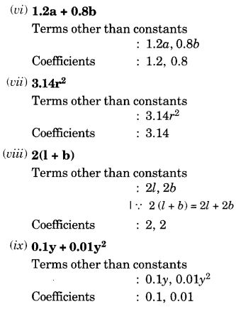 NCERT Solutions for Class 7 Maths Chapter 12 Algebraic Expressions 7