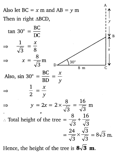 NCERT Solutions for Class 10 Maths Chapter 9 Some Applications of Trigonometry 3