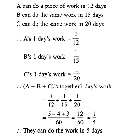 Selina Concise Mathematics class 7 ICSE Solutions - Unitary Method (Including Time and Work)-c5