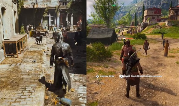 Assassin Creed Unity vs Odyssey - Height Difference
