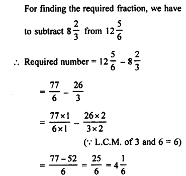 Selina Concise Maths class 7 ICSE Solutions - Fractions (Including Problems)-C8