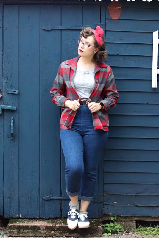 Casual jeans & Pendleton 49er outfit