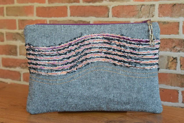Chenille Waves Pouch (class sample)